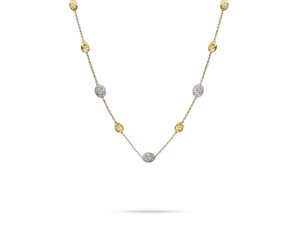 Marco Bicego Siviglia Necklace, Fashioned in 18K Yellow and White Gold, Measuring 16.5