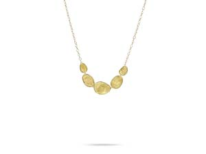 """Marco Bicego 18K Yellow Gold 16"""" Lunaria Graduated Necklace"""