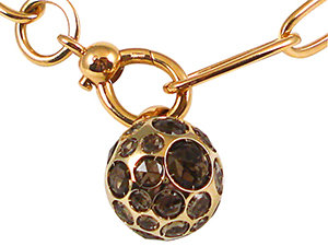 From Pomellato, this 18K Pink Gold Harem Pendant Features a Smokey Quartz Ball
