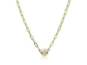 """Penny Preville 18K Yellow Gold 18"""" Diamond Round Pendant Necklace"""