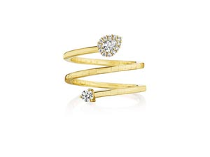 Penny Preville 18K Yellow Gold Constellation Diamond Wrap Ring