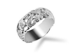 Alson Signature Collection Diamond Band, Fashioned in 14K White Gold and Featuring Twenty-Five Round Diamonds =.15cts Total Weight