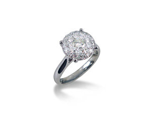 Alson Signature Collection Diamond Cluster Ring, Fashioned in 14K White Gold, Featuring Twenty Eight Round Diamonds =1.00ct Total Weight, G/H Color, SI Clarity