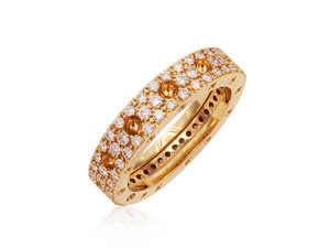Roberto Coin Pois Moi Diamond Eternity Band, Fashioned in 18K RG and Featuring Round Diamonds =1.04cts Total Weight