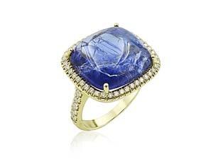 Lauren K 18K Yellow Gold Mischa Tanzanite & Diamond Ring