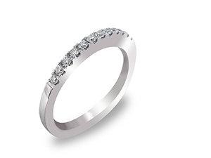 Alson Special Value 14K White Gold Diamond Band