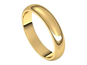 Alson Signature Collection 14K Yellow Gold 4MM Half Round Band
