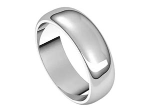 Alson Signature Collection 14K White Gold 6MM High Polish Band