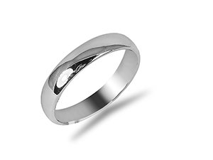 From The Alson Signature Collection, a Plain Band, Fashioned in Platinum and Measuring 4MM Wide.