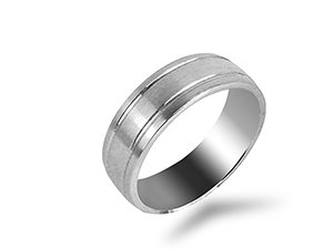 ArtCarved Palladium 7mm Men's Band