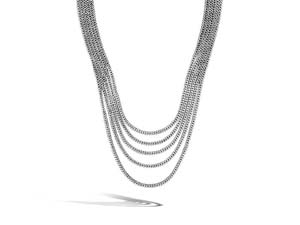 """John Hardy Silver 16"""" Classic Chain Multi-Row Necklace"""