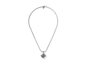 "John Hardy Silver Classic Chain 20"" Blue Sapphire Square Pendant Necklace"