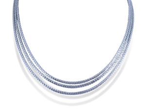 John Hardy Classic Chain Three-Row Necklace, Fashioned in Sterling Silver, Adjustable 16-18