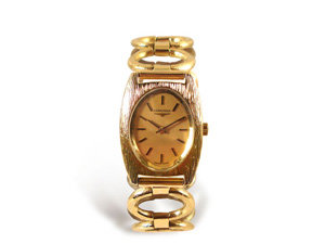 Alson Pre-Owned Longines 18K Yellow Gold Ladies Watch