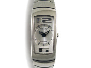 Alson Pre-Owned Seiko Premier Ladies Watch, Fashioned in Stainless Steel, Featuring Silver Dial and Quartz Movement