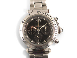 Alson Pre-Owned Cartier Pasha Chronograph 38MM Steel Watch