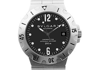 Alson Pre-Owned Bvlgari Scuba Diagono 38MM Stainless Steel Watch