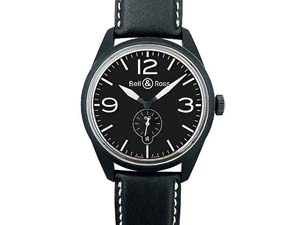Alson Pre-Owned Bell & Ross Vintage BR123 41MM Black PVD Steel Watch