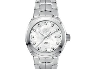 Tag Heuer Link 32MM Stainless Steel Watch, with a Mother of Pearl Diamond Dial and Quartz Movement
