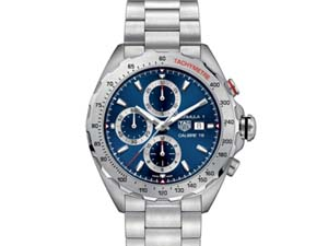 Tag Heuer Formula 1 Chronograph 44MM Steel Watch, with a Blue Dial and Automatic Movement