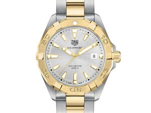 Tag Heuer Aquaracer 41MM Steel & 18K Yellow Gold Plated Watch