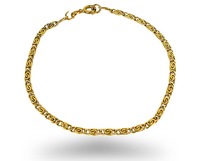 Alson Signature Collection Link Bracelet, Fashioned in 14K Yellow Gold, Measuring 8