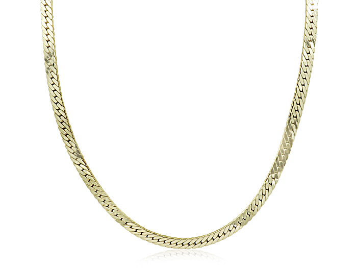 Alson Signature Collection Herringbone Necklace, Fashioned in 14K Yellow Gold, Measuring 22