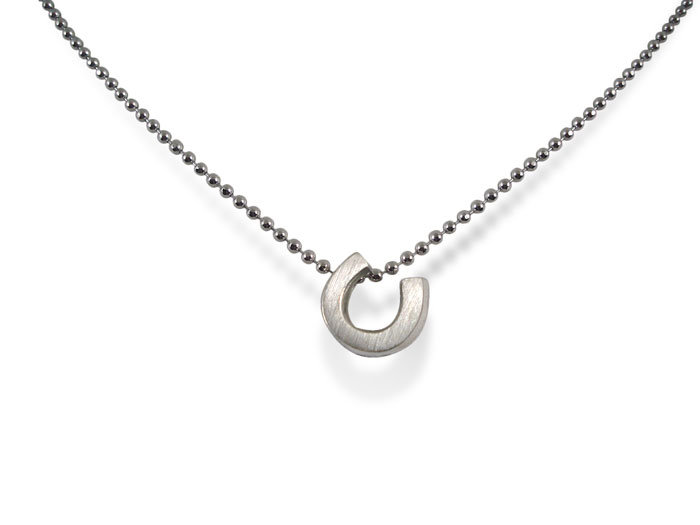 Alex Woo Little Luck Horseshoe Necklace, Fashioned in Sterling Silver, Measuring 16