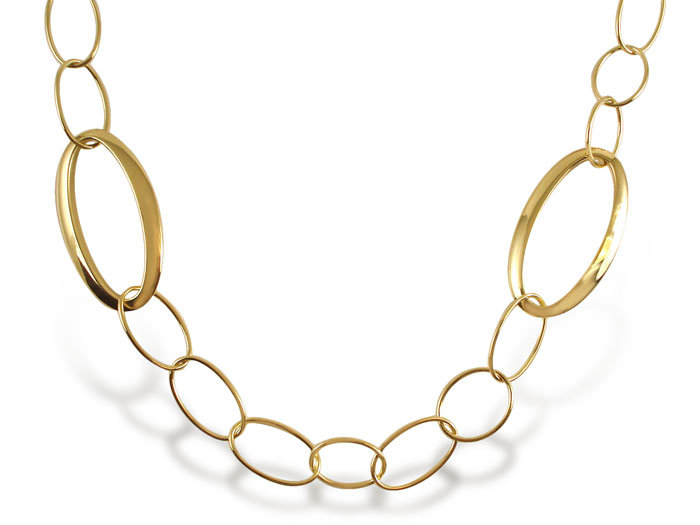 Ippolita Glamazon Mixed Link Necklace, Fashioned in 18K Yellow Gold, Measuring 34.5