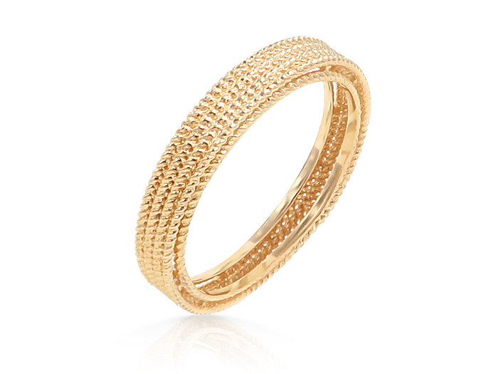 Roberto Coin 18K Rose Gold Symphony Barocco Band