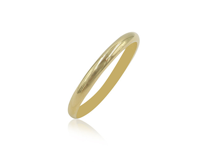 Alson Signature Collection 14K Yellow Gold 2MM Half Round Band