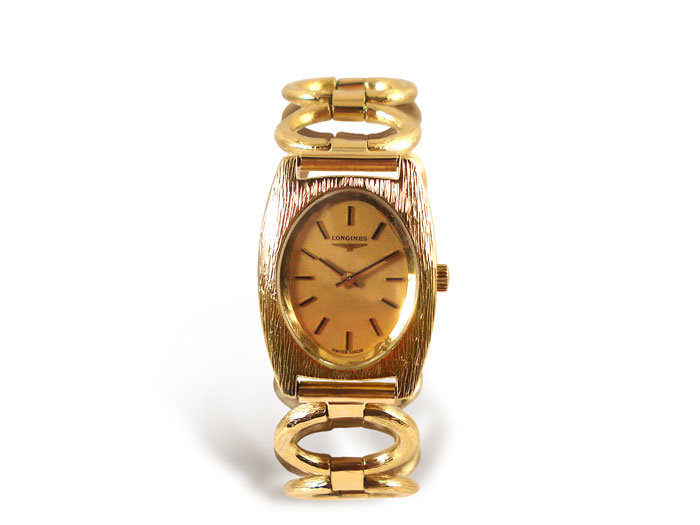 Alson Pre-Owned Ladies 18K Yellow Gold Longines Bracelet Watch