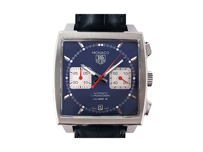 Tag Heuer Monaco 39MM Chronograph Watch, Fashioned in Stainless Steel, Featuring a Blue Dial, Blue Leather Strap and Automatic Movement