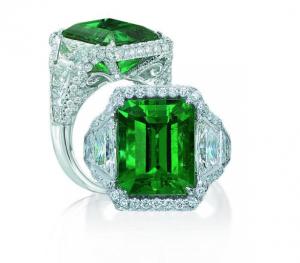 JB Star Emerald and Diamond Ring