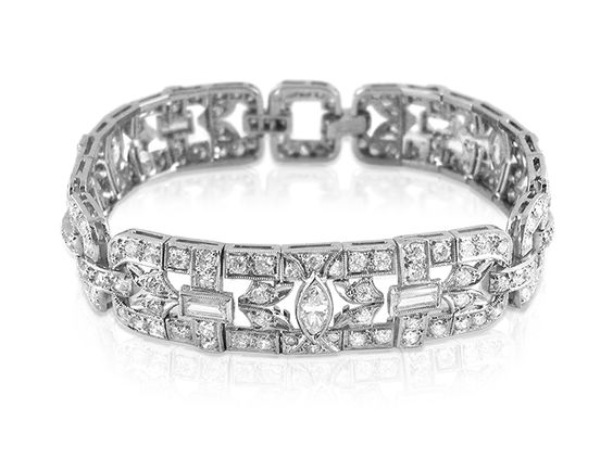 bracelets platinum onyx art an product exquisite deco diamond bracelet and