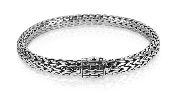"John Hardy Men's Sterling Silver Classic Chain Medium Bracelet, Measuring 8.5"" in Length"