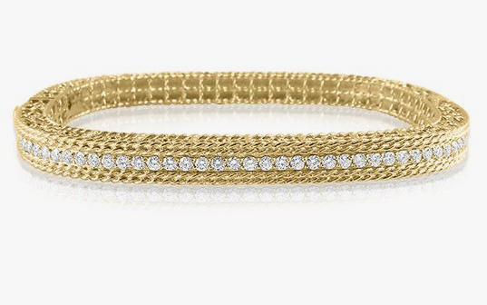 Roberto Coin 18K Yellow Gold Princess Diamond Bangle Bracelet