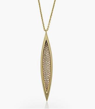 Melissa Kaye 18K Yellow Gold Vanessa Diamond Necklace, Featuring Round Diamonds =1.36cts Total Weight
