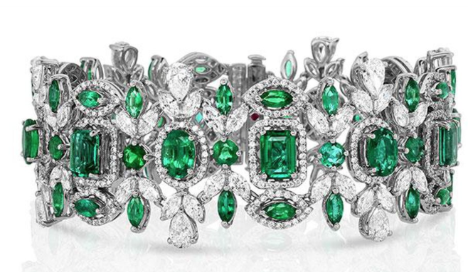 Roberto Coin One-of-a-Kind Emerald and Diamond Bracelet 
