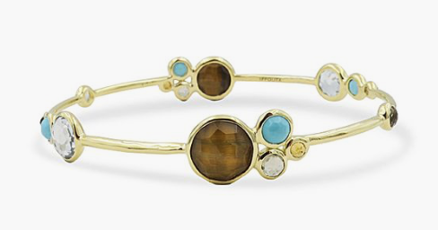 Ippolita 18K Yellow Gold Lollipop Multi-Stone Calabria Bangle Bracelet