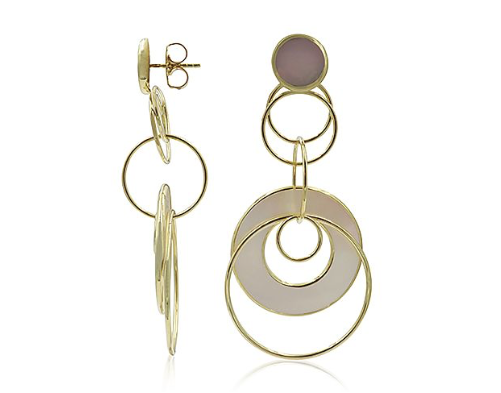 Ippolita 18K Yellow Gold Rock Candy Mother Of Pearl Medium Jet Set Earrings