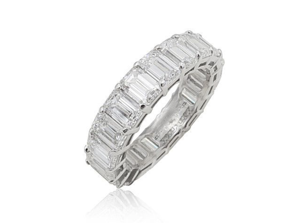 Alson Signature Collection Emerald Cut Eternity Band