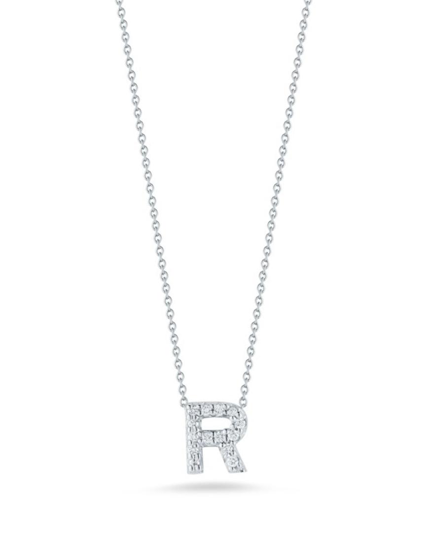 Roberto Coin Love Letter Pendant with Diamonds|