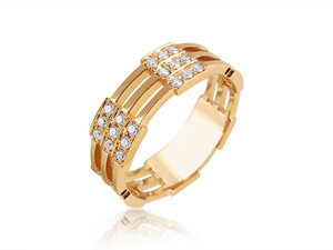 Melissa Kaye 18K Rose Gold Izzy Small Diamond Band, Featuring 54 Round Diamonds =.63cts Total Weight