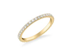 ArtCarved 14K Yellow Gold Four-Prong Diamond Eternity Band