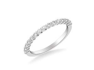 ArtCarved 14K White Gold Shared Prong Diamond Band