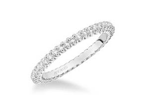 ArtCarved Stackable Eternity Band, Fashioned in 14K White Gold, Featuring Forty-Two Round Diamonds =.50cts Total Weight