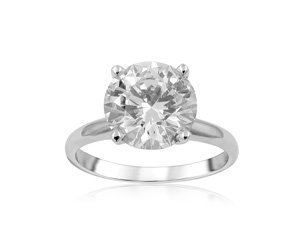 Alson Signature Collection Solitaire Engagement Ring, Fashioned in 14K White Gold, Featuring a 2.47 Carat Round Diamond, VS2 Clarity, P Color
