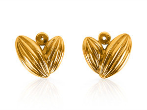 Alson Special Value Earring Jackets, Fashioned in 14K Yellow Gold, Stud Earrings Sold Separately