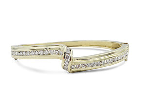 Alson Special Value 14K Yellow Gold Bangle Bracelet, Featuring 39 Round Diamonds =2.00ctw, H Color, VS2 Clarity